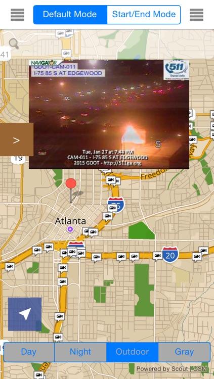 GeorgiaAtlanta Offline Map With Traffic Cameras Pro By Calvin Chen - Georgia map traffic