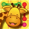 Animal wonder shadow zoo: Where's my shadow crazy crossing line scramble