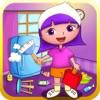 子供のためのアンナの家事ヘルパー無料クリーニングゲーム