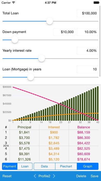 Screenshot #8 for Loan Calculator - Quick Estimate of Your Loan and Mortgage: Principal, Interest and Loan Balance