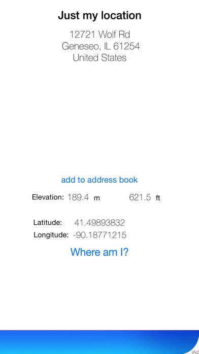 Just My Location On The App Store - What's the elevation at my location