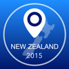 New Zealand Offline Map + City Guide Navigator, Attractions and Transports