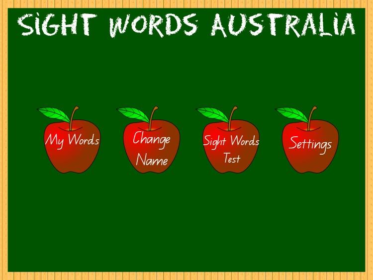 Sight Words Australia School Edition VIC/WA/NT by David Martin