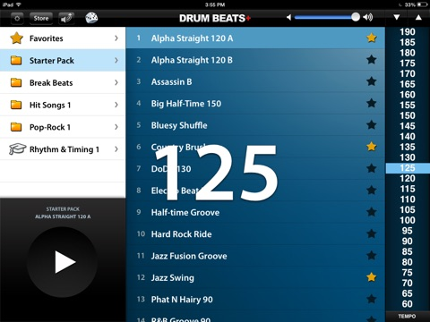 Screenshot #1 for Drum Beats+ (Rhythm Metronome, Loops & Grooves Machine)