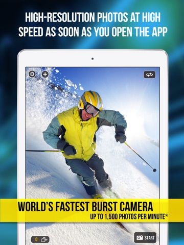 Screenshot #1 for Fast Camera - The Speed Burst, Stealth Cam, 4K Time Lapse Video, Photo Sharing & Stop Motion Photos App