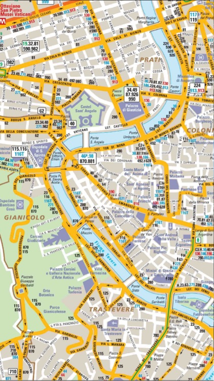 Rome Italy Subway Map.Rome Vatican Travel Guide And Offline City Map Italy Atac