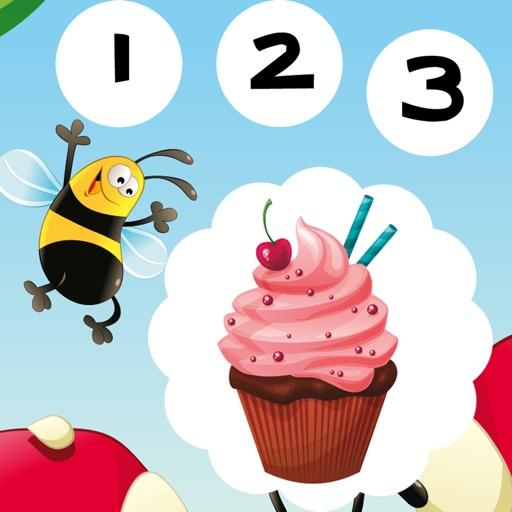 123 活躍! 遊戲,學習計數 與cookies兒童