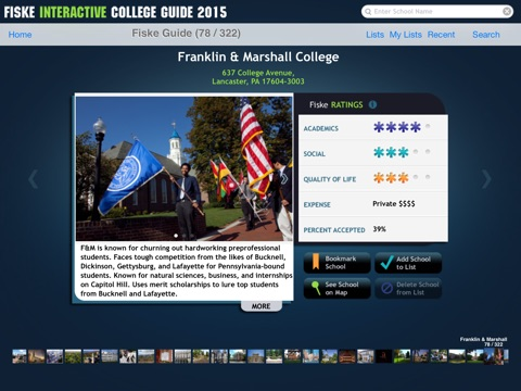 Fiske Interactive College Guide 2015 screenshot 4