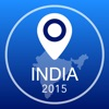 India Offline Map + City Guide Navigator, Attractions and Transports