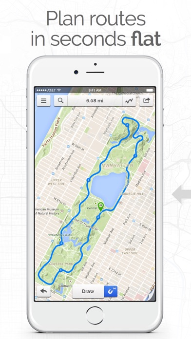 Footpath Route Planner - Running / Cycling / Hiking Maps Screenshot