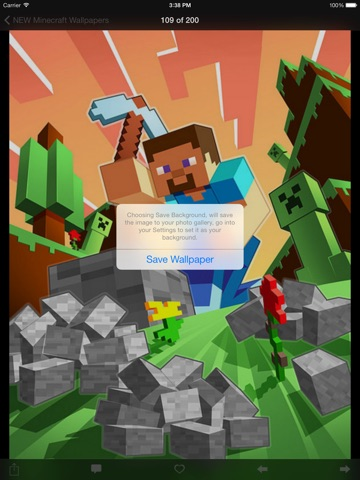 Screenshots of NEW Wallpapers for Minecraft Edition - Backgrounds & Mini Mine Forum for iPad