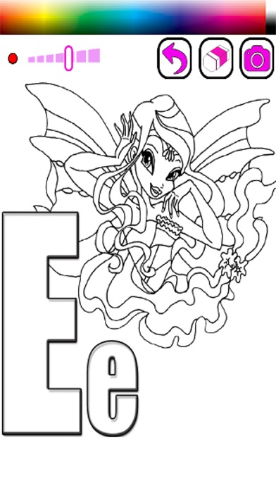 Coloring Book ABCs For Club Fairy Of Winx Edition On The App Store