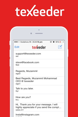 Texeeder - with custom keyboard ~ Type Less Get More screenshot 1
