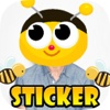 Bubble Bee Sticker : Beauty with Captions and Stickers