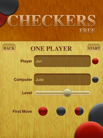 Screenshots of Checkers Free for iPad