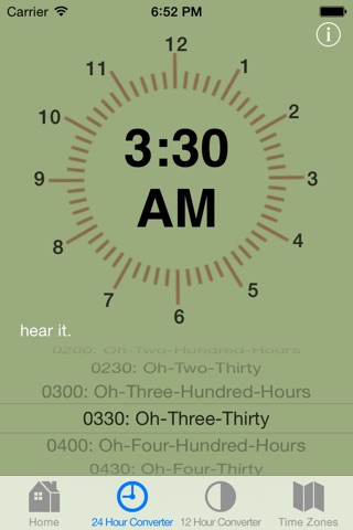 Military Time Converter screenshot 3