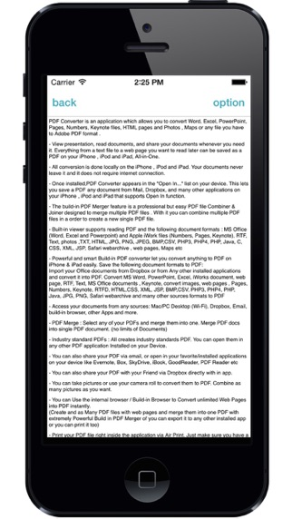PDF Converter - Convert Document To PDF anytime any where Screenshot on iOS