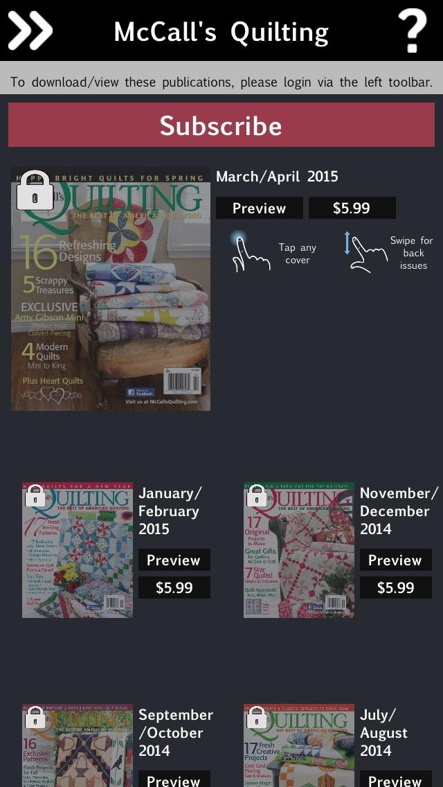Mccalls Quilting Magazine review screenshots