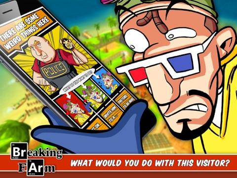Screenshots of Breaking Farm: The best grow marijuana sim with weed and bad pot for iPad