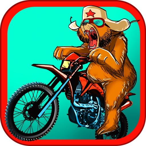 Russian Bear Motorcycle Traffic Race