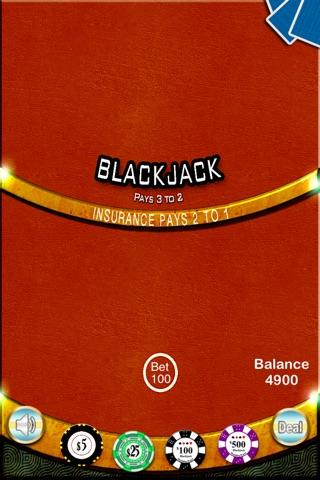 Blackjack 21 Casino - BlackJack Trainer screenshot 1