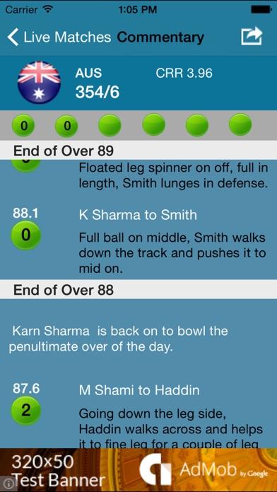 Comments on Cricket Scoreboard Pro
