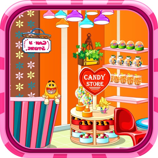 Candy store decoration game - Decor a beautiful candy store with this decoration game. iOS App
