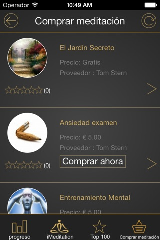 iMeditation Spanish screenshot 3