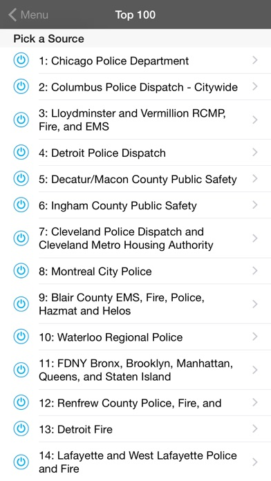 Screenshots of 5-0 Radio Police Scanner for iPhone