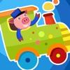 Aktiv! Spiel Für Kinder Zum Lernen und Spielen Mit Zug und Tiere
