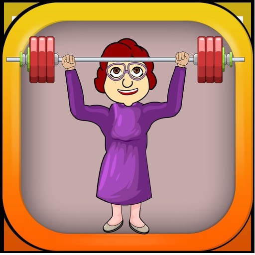 Old Granny Lifting Weights - Weightlifting Free iOS App