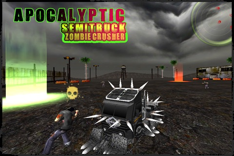 Apocalyptic SemiTruck Zombie Crusher screenshot 2