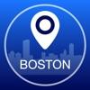 Boston Offline Karte + Stadtführer Navigator, Sehenswürdigkeiten und Verkehr