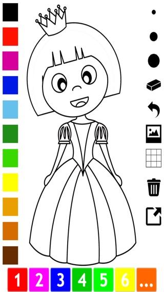 Activo! Libro Para Colorear de la Princesa Para Las Niñas: Con ...