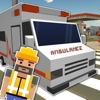 Blocky 911 Ambulance Rescue - Addictive & Funny Real Blocks Simulator Game