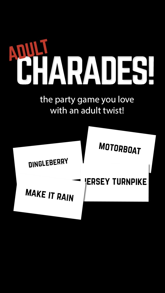 Adult Charades! Guess Words on Your Heads While Tilting Up or Down Screenshot