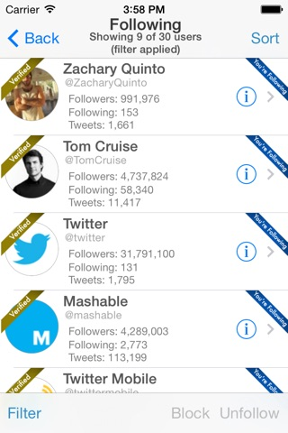 Find Unfollowers And Track New Followers On Twitter - Pro Edition screenshot 3