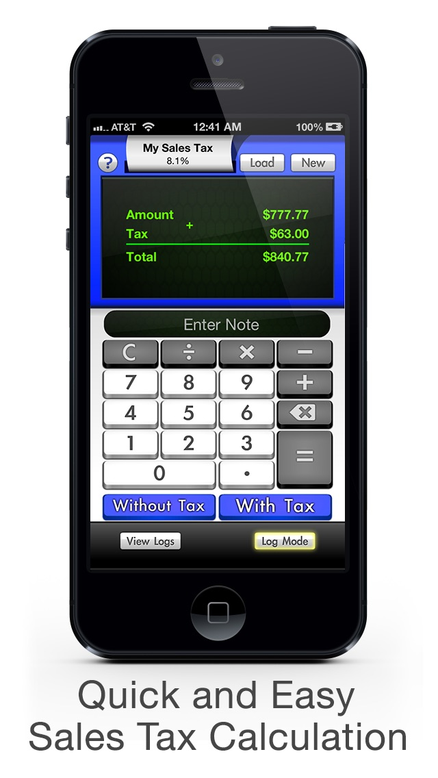 sales tax calculator with reverse tax calculation app screenshots