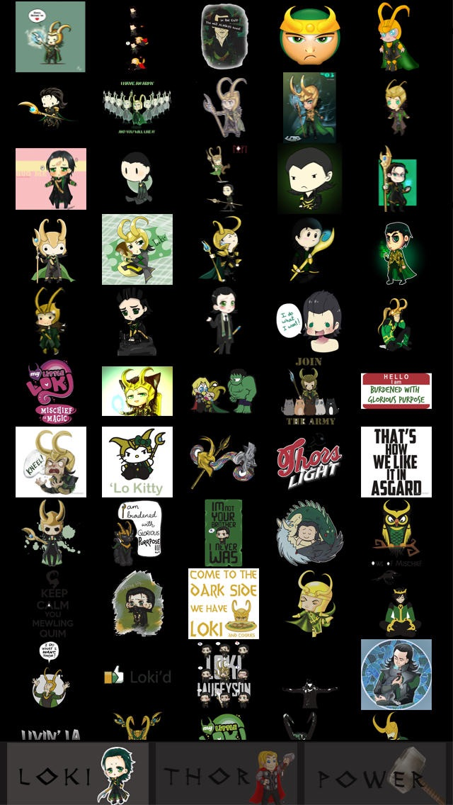 download Stickers for WhatsApp, Viber, Line, Tango, Kik, Snapchat & WeChat Messenges  - Thor and Loki Free edition apps 1