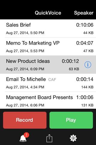 QuickVoice® Recorder screenshot 1