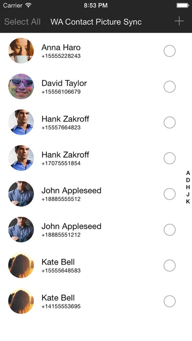 Screenshot #1 for Contact Picture Sync for WhatsApp