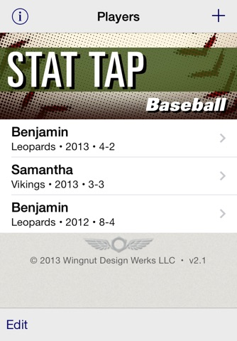 Stat Tap Baseball screenshot 1