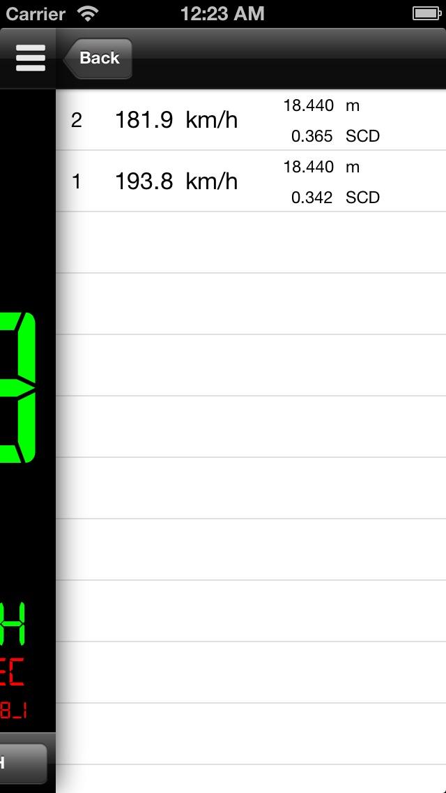 スピードガン Simple Speed Gun screenshot1