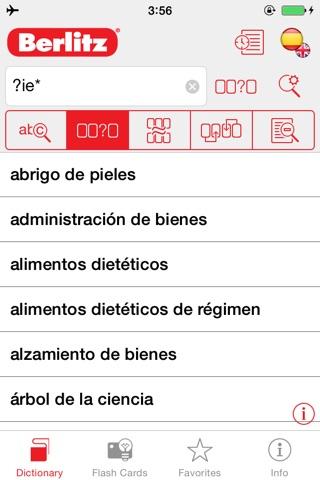 Spanish <-> English Berlitz Standard Talking Dictionary screenshot 2