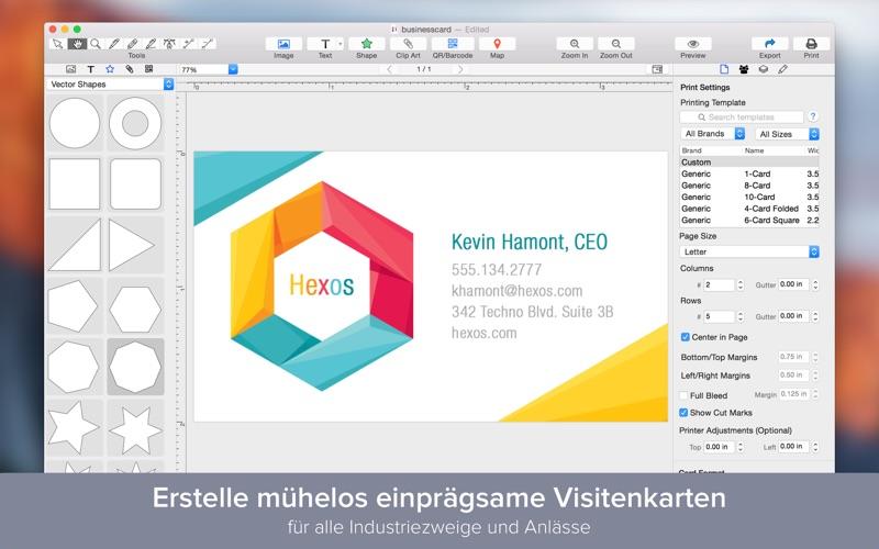 Business Card Designer Designe Visitenkarten Bei Wombat