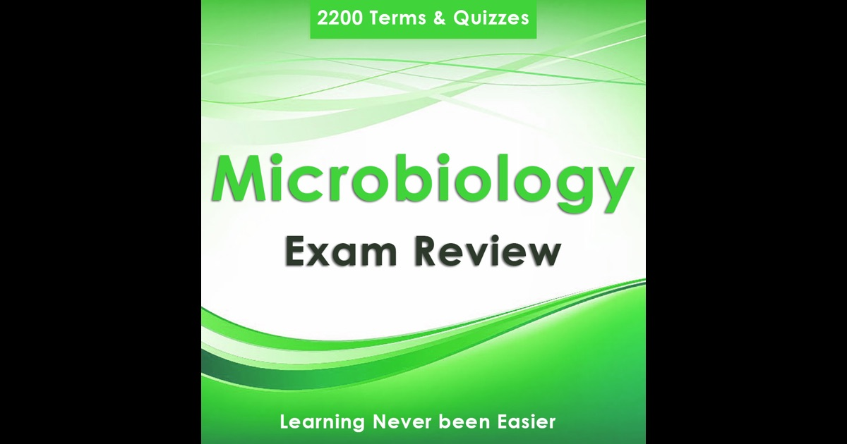 microbiology exam review Get this app & extend your knowledge with over 4500 microbiology notes & quiz main features: - +4500 exam questions and study notes - 5 study modes.