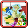 Kids Dinosaur Rex Jigsaw Puzzles - educational shape and matching children`s game puzzles