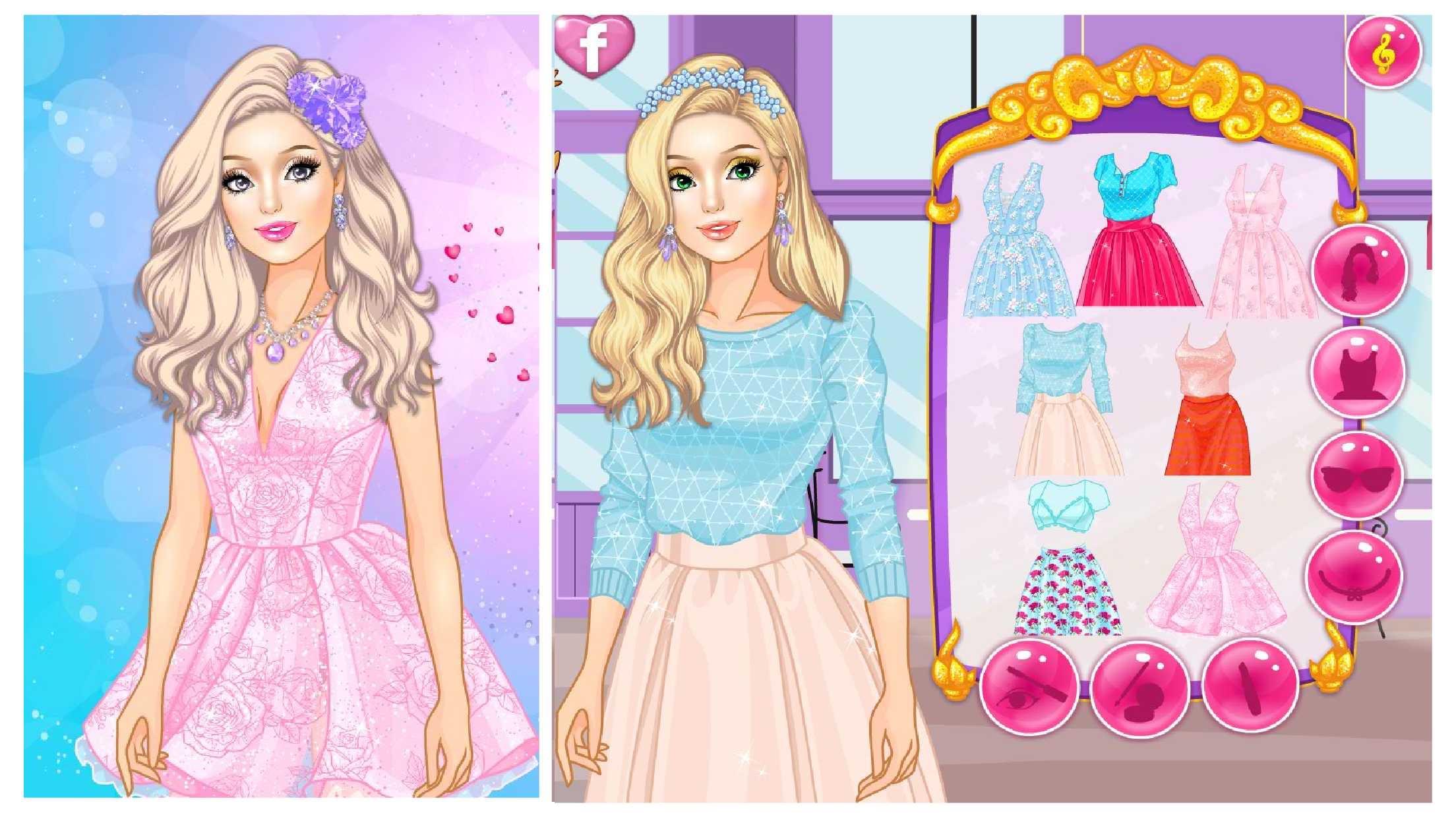 应用截图 应用描述 可爱的芭比公主,给她穿上漂亮的衣服吧.