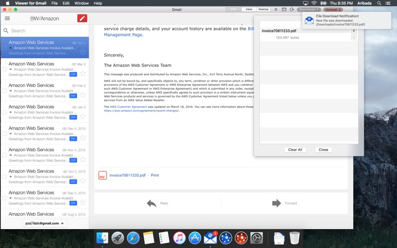 how to turn off gmail notifications on mac
