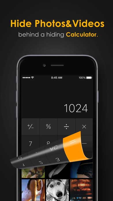 Screenshot for Secret Calculator+ Pro: Private photo & video vault with safe internet browser in Singapore App Store